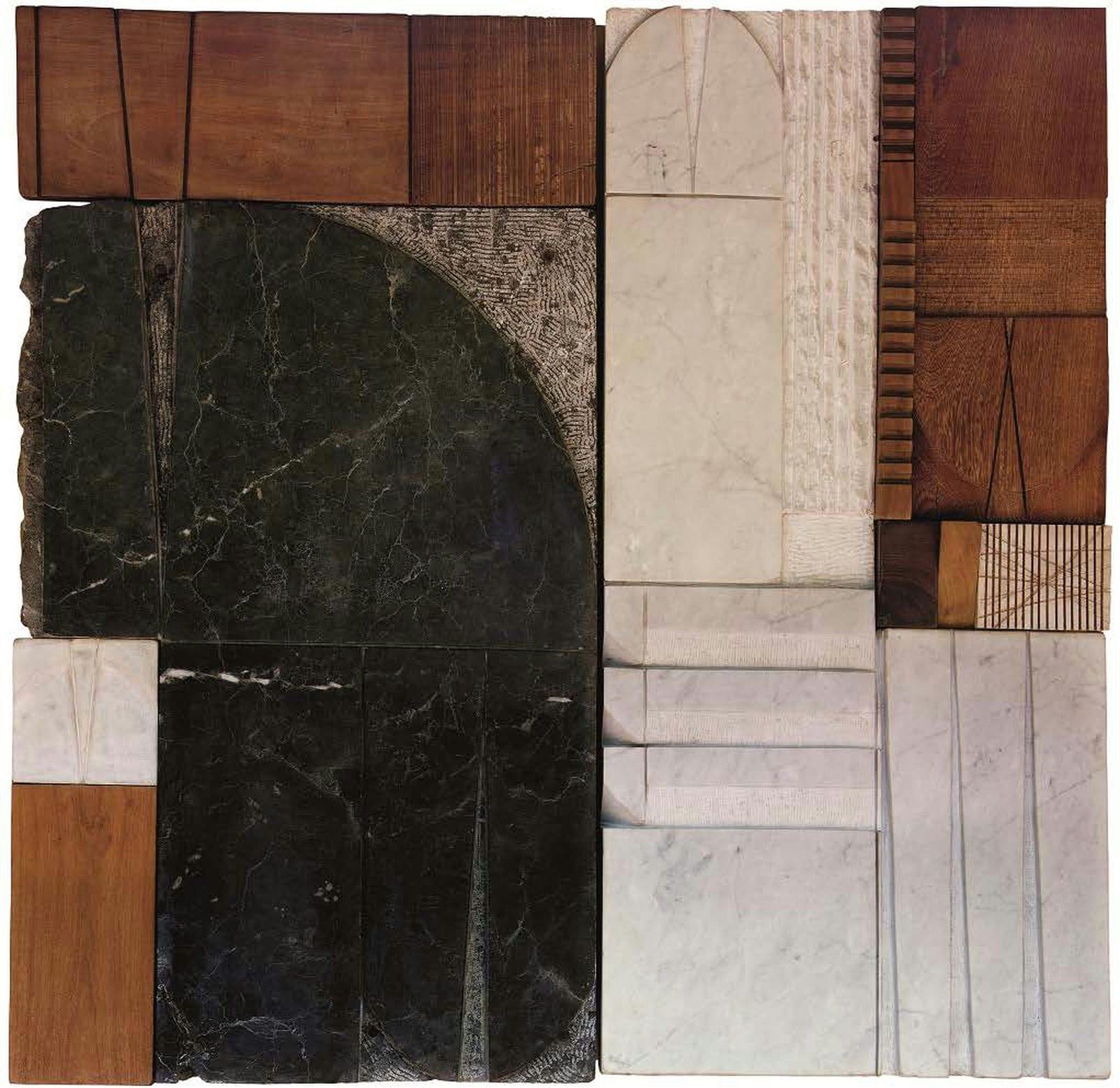 De la serie Tu y yo escriTuras sin Tiempo. 2007. Talla mármol. 144 x 146 x 10 cm. 56.7 x 57.4 x 3.9 in. RmmA 020