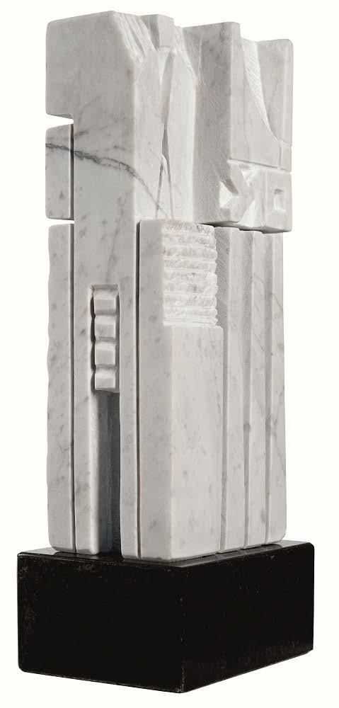 De la serie Tu y yo escriTuras sin Tiempo. 2015. Talla sobre mármol blanco de Carrara. 36 x 16 x 105 cm. 14.1 x 6.2 x 4.1 in. VmA 012