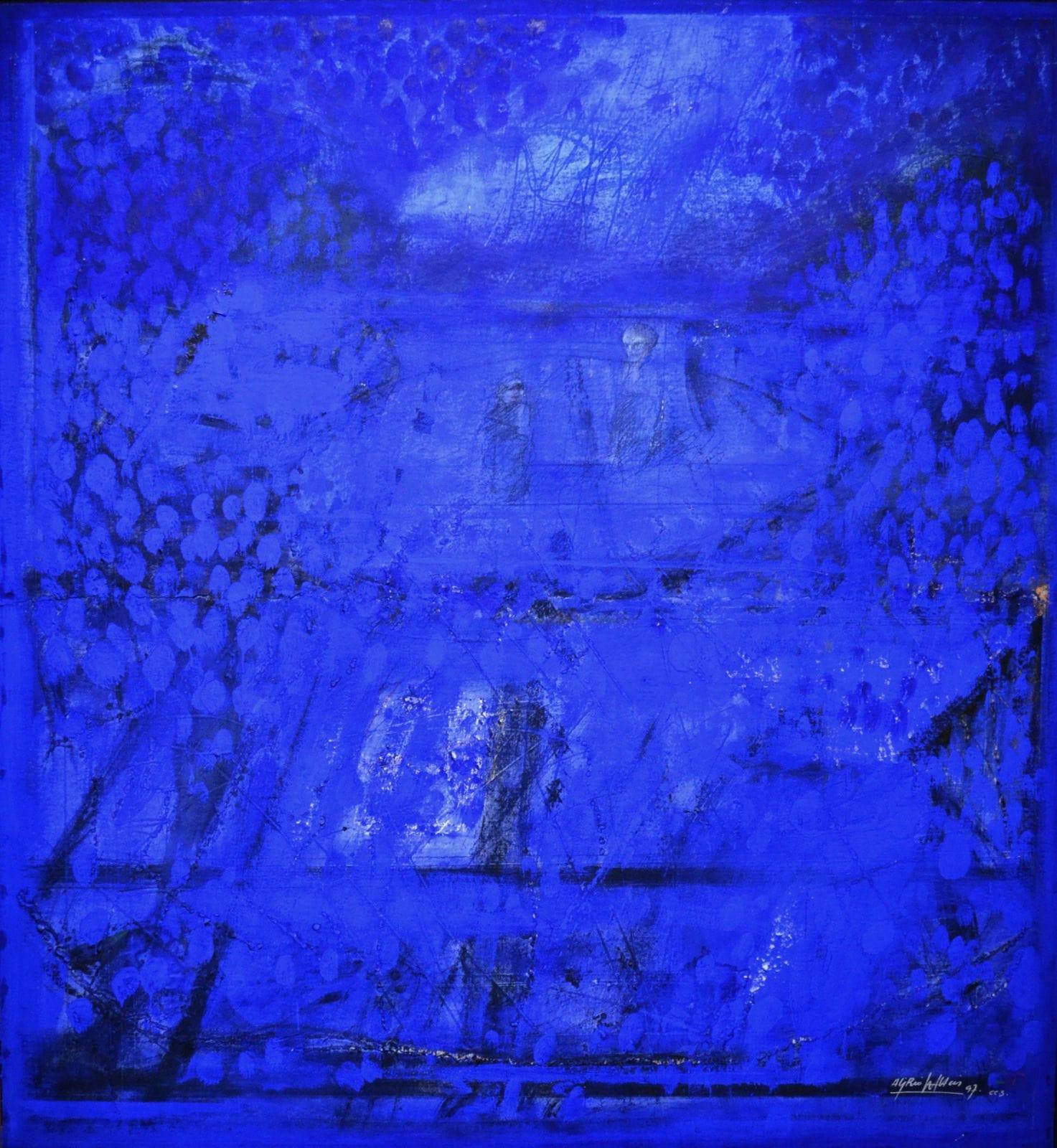 Alirio Palacios Paisaje azul, 1997 Oil on canvas 150 x 160 cm | 59 x 62.9 in.