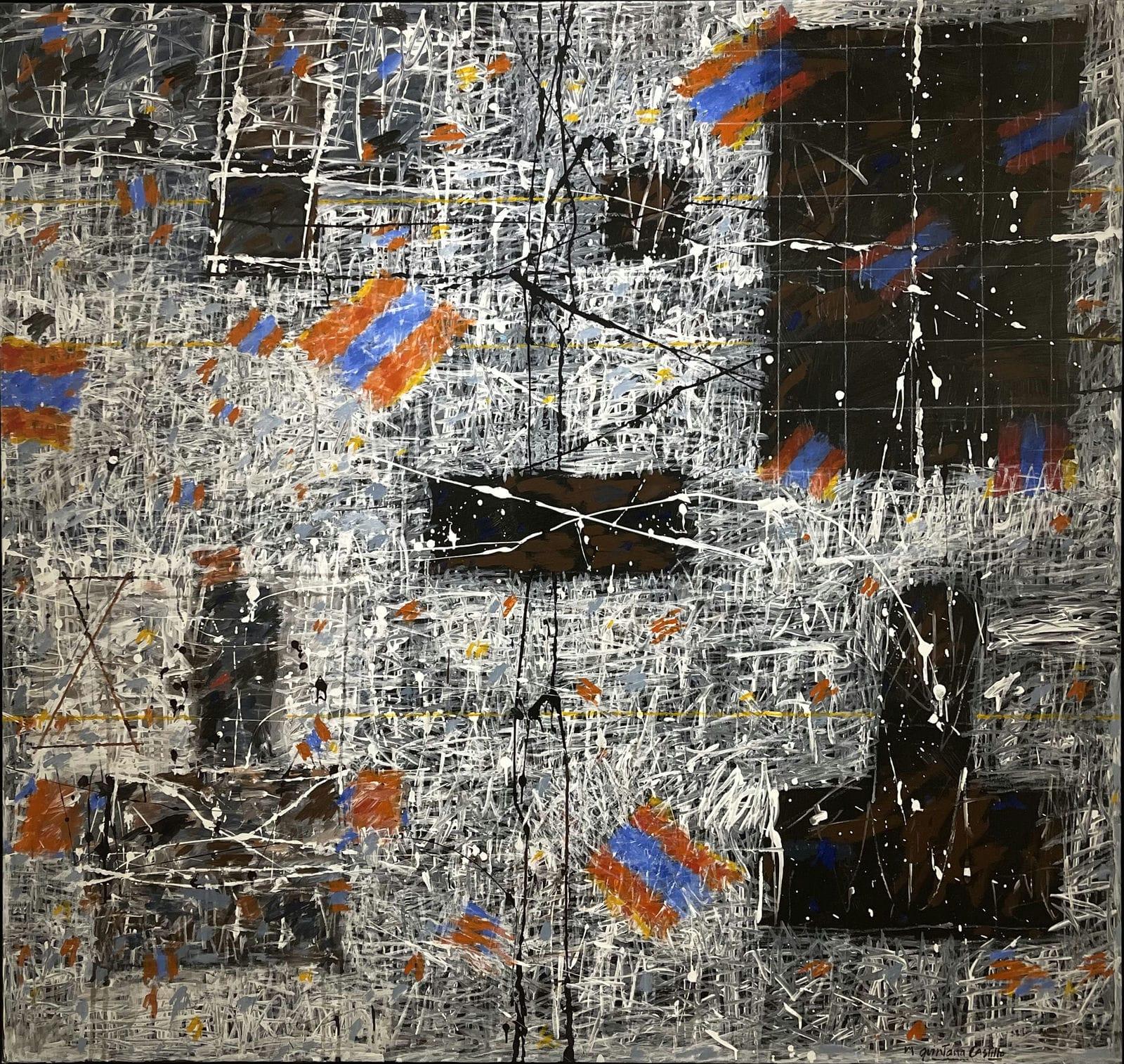 MaManuel Quintana Castillo Festival Heraclito, 2001 Serie: Planos activos / Geometría Viva Acrylic, Polymer, resin synthetic on canvas 64.9 x 68.8 in |165 x 175 cm